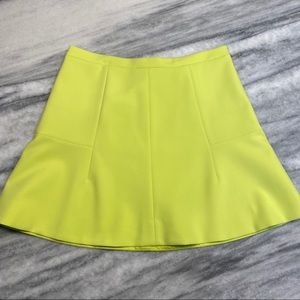 NWT J. Crew Citron Yellow Flare A-Line Skirt